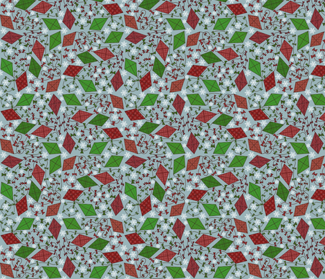Christmas Kites fabric by leeleeandthebee on Spoonflower - custom fabric
