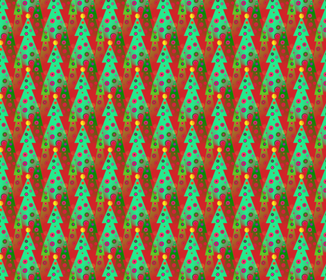 julgrans__christmas_trees fabric by vinkeli on Spoonflower - custom fabric