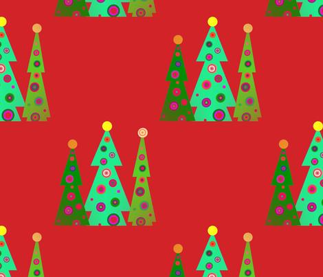 julgrans__christmas_trees_2 fabric by vinkeli on Spoonflower - custom fabric
