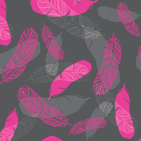Vederlicht - Light as a feather fabric by zesti on Spoonflower - custom fabric