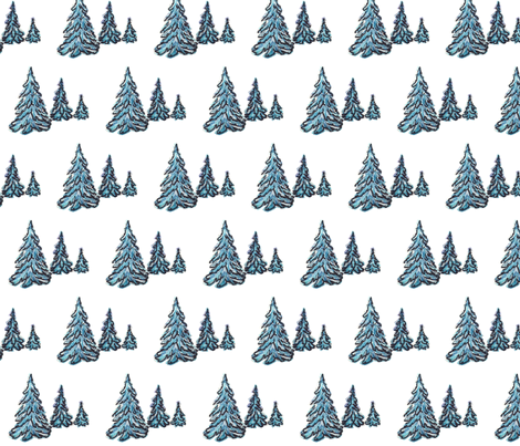 fir_trees fabric by vinkeli on Spoonflower - custom fabric