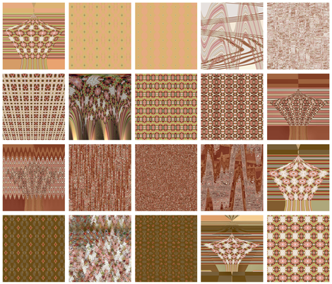 Italian_Flower_Peach_Blocks fabric by maria_t on Spoonflower - custom fabric