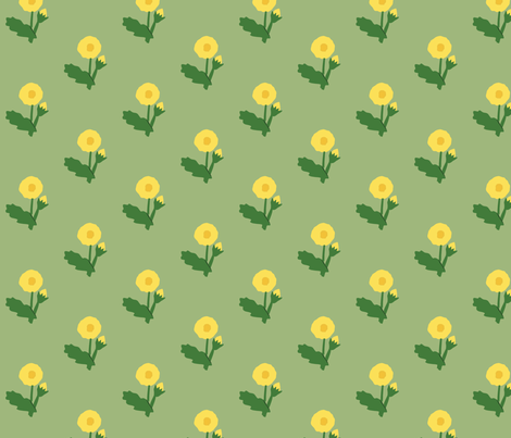 dandelion fabric by laurawilson on Spoonflower - custom fabric