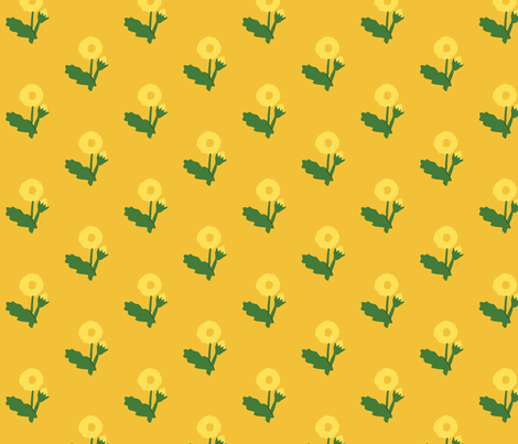 dandelion on orange fabric by laurawilson on Spoonflower - custom fabric