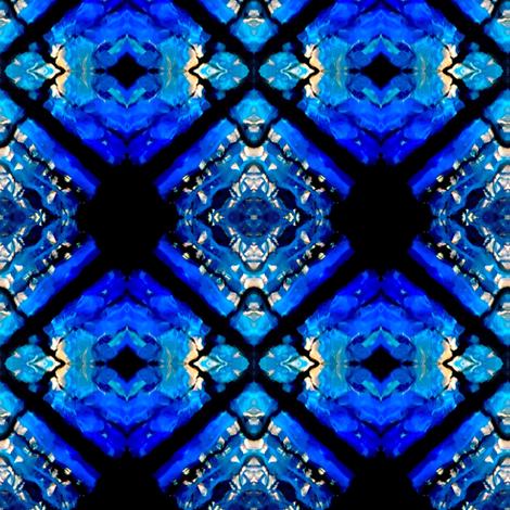 Blue Diamonds fabric by glennis on Spoonflower - custom fabric