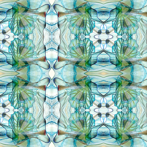 Got the Blues Glass fabric by glennis on Spoonflower - custom fabric