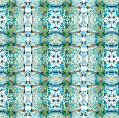 Got the Blues Glass fabric by glennis on Spoonflower - custom fabric