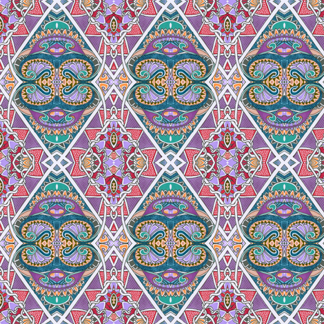 Bollywood Argyle fabric by edsel2084 on Spoonflower - custom fabric