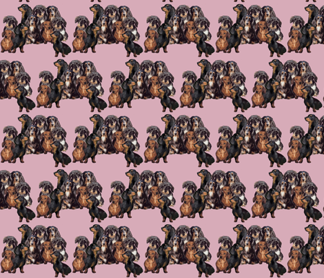Dachshunds fabric fabric by dogdaze_ on Spoonflower - custom fabric