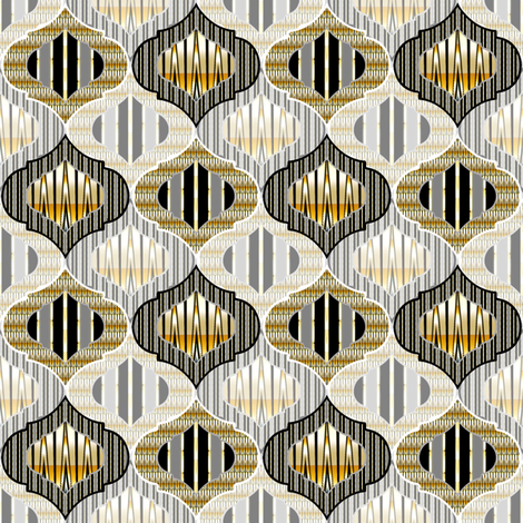 Cameo Metallic fabric by joanmclemore on Spoonflower - custom fabric