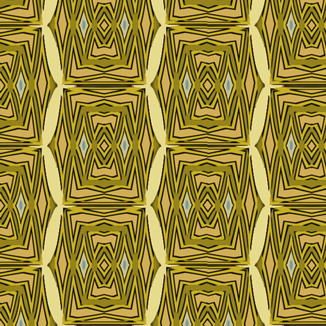 African Village (Shell) fabric by david_kent_collections on Spoonflower - custom fabric