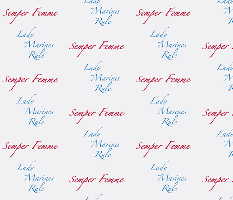 Semper Femme 2 fabric by susaninparis on Spoonflower - custom fabric