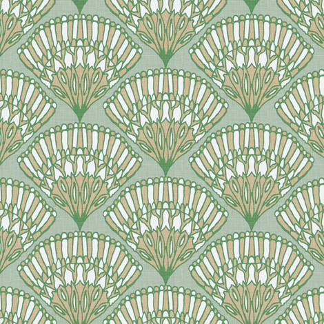 fan_linen fabric by kezia on Spoonflower - custom fabric