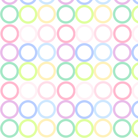 Rainbow Pastel - Circlets -  © PinkSodaPop 4ComputerHeaven.com fabric by pinksodapop on Spoonflower - custom fabric