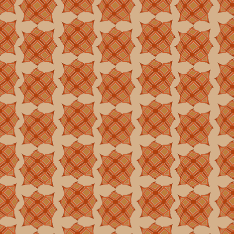 Startartan (Rust) fabric by david_kent_collections on Spoonflower - custom fabric