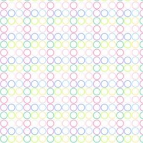 Rainbow Pastel - Mini Circlets -  © PinkSodaPop 4ComputerHeaven.com