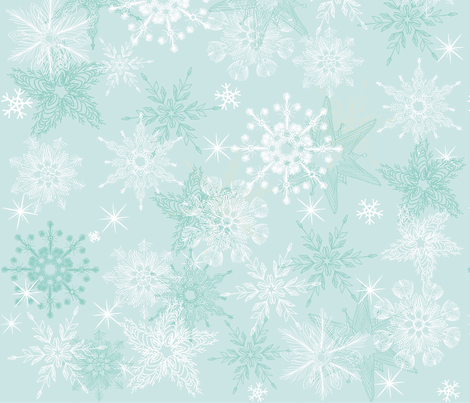 seamless snowflakes fabric by anastasiia-ku on Spoonflower - custom fabric