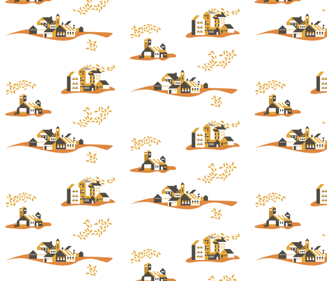 Fabric Town fabric by nobleandable on Spoonflower - custom fabric