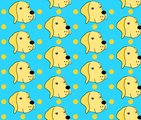 Sarah the Yellow Lab fabric by missyq on Spoonflower - custom fabric