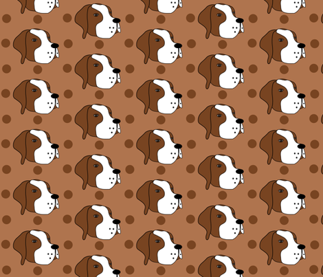 Winston the Pointer fabric by missyq on Spoonflower - custom fabric
