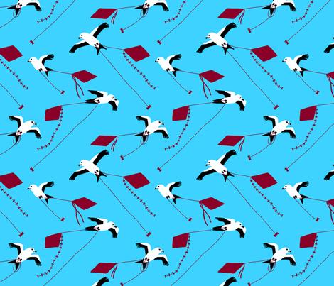 Kites with kites fabric by mongiesama on Spoonflower - custom fabric