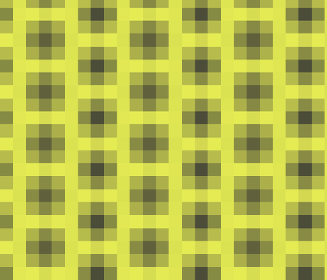 Wall Flower Plaid in Black and Yellow fabric by bluenini on Spoonflower - custom fabric