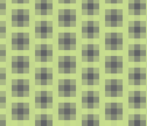 Wall Flower Plaid in Black and Green fabric by bluenini on Spoonflower - custom fabric