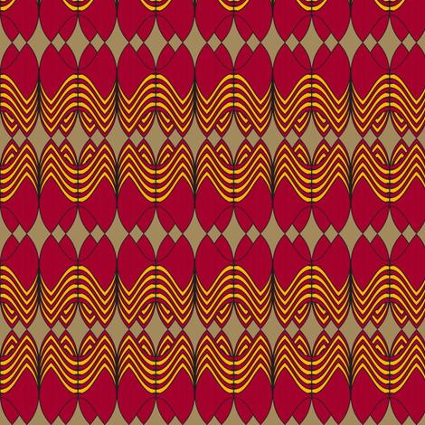 Royal Imperative (Red) fabric by david_kent_collections on Spoonflower - custom fabric