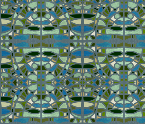 Gaudian masks fabric by su_g on Spoonflower - custom fabric