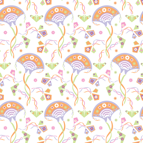 Spring_kites fabric by niceandfancy on Spoonflower - custom fabric