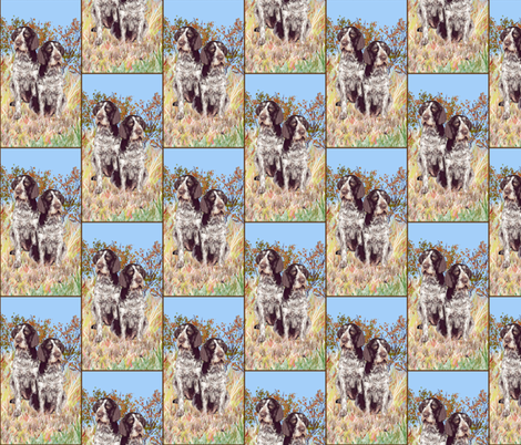 german wirehaired Pointers on rustic background  fabric by dogdaze_ on Spoonflower - custom fabric