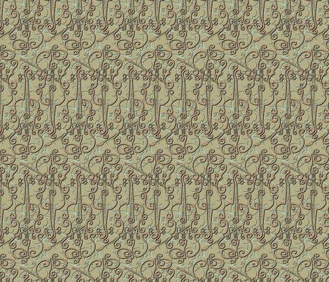 VIOLIN elfin flourish fabric by glimmericks on Spoonflower - custom fabric