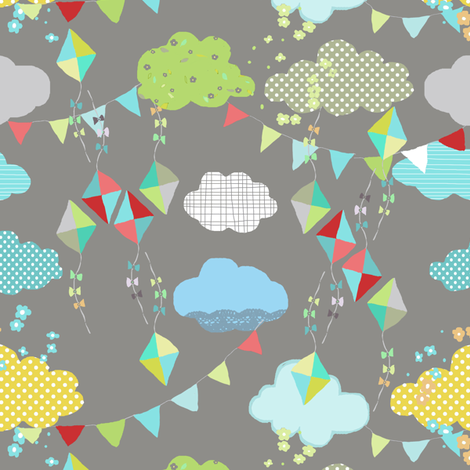 kites fabric by katarina on Spoonflower - custom fabric