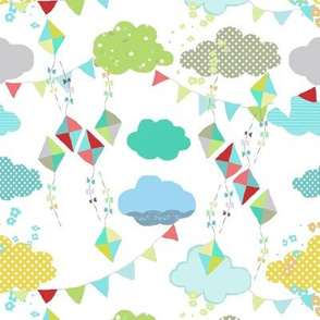 kites white