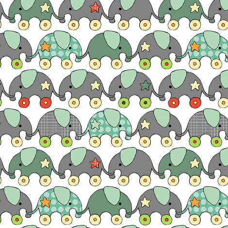 Toy Elephants fabric by tradewind_creative on Spoonflower - custom fabric