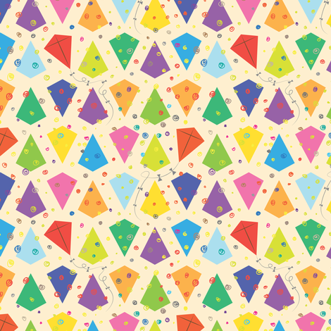 Colorful KITES! fabric by isabelc on Spoonflower - custom fabric