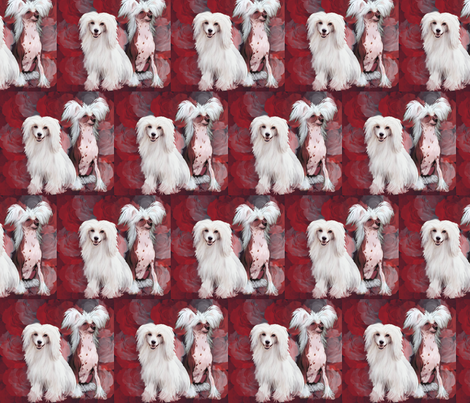 Chinese Crested dogs fabric by dogdaze_ on Spoonflower - custom fabric