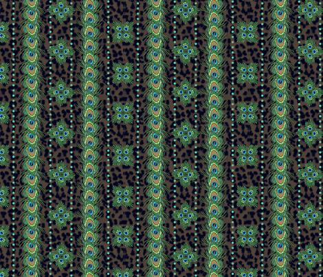 peacock_and_leopard fabric by glimmericks on Spoonflower - custom fabric