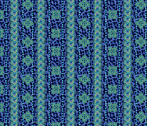 peacock_and_leopard 2 fabric by glimmericks on Spoonflower - custom fabric