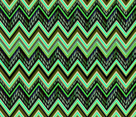 Chevron Verde fabric by joanmclemore on Spoonflower - custom fabric