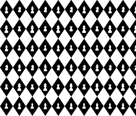 Chessboard Check in Black and White fabric by charmcitycurios on Spoonflower - custom fabric