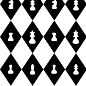 Chessboard Check in Black and White