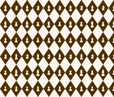 Chessboard Check in Brown and Cream fabric by charmcitycurios on Spoonflower - custom fabric