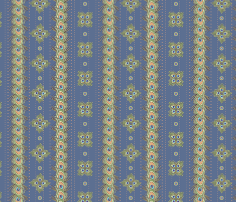 peacock_stripes3 fabric by glimmericks on Spoonflower - custom fabric