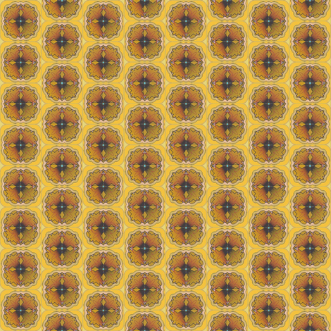 Winsome Yellow Flower fabric by david_kent_collections on Spoonflower - custom fabric