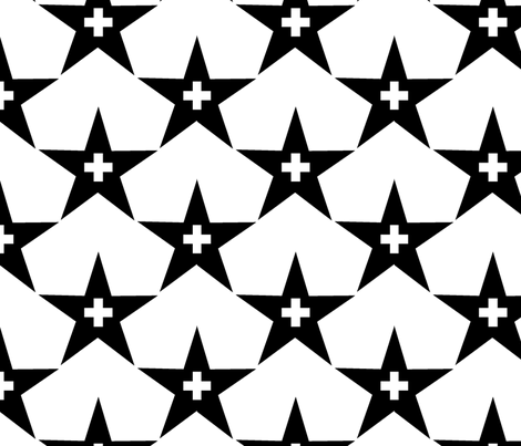 Black Stars fabric by ravenous on Spoonflower - custom fabric