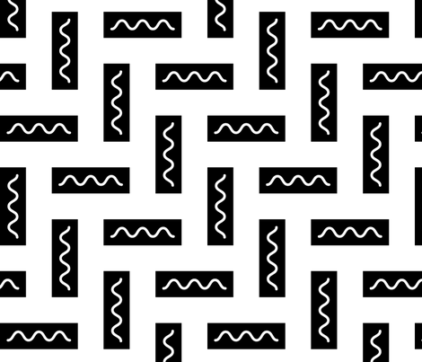 Black Rectangles fabric by ravenous on Spoonflower - custom fabric