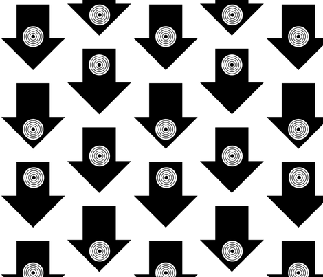 Black Arrows fabric by ravenous on Spoonflower - custom fabric