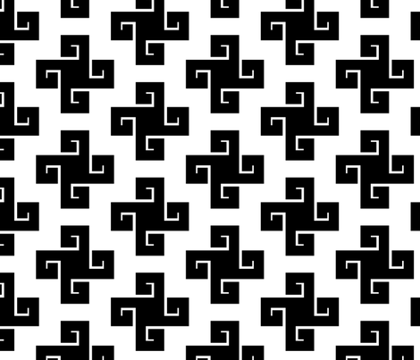 Black Swastikas fabric by ravenous on Spoonflower - custom fabric