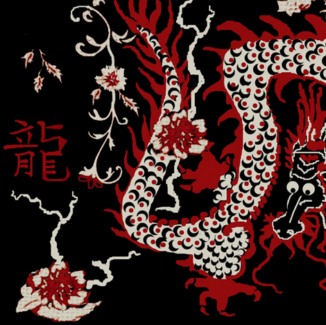 Year of the Dragon #5 fabric by paragonstudios on Spoonflower - custom fabric